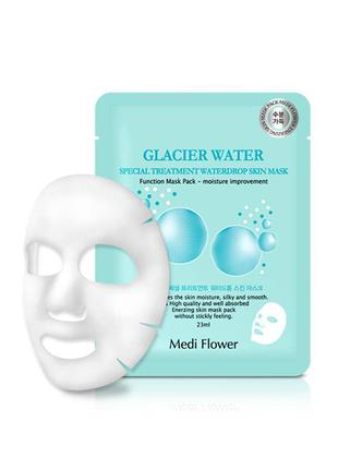 Тканевая маска medi flower glacier water skin mask с ледниково...