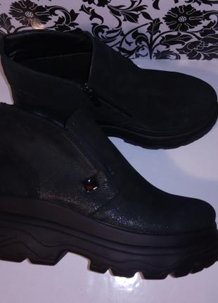 Женские кожаные ботинки весна/осень