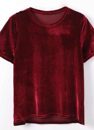 №32 бархатная красная футболка от uniface