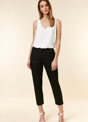 Черные бриджи в обтяжку джинсы укороченные wallis