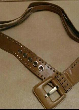 Пояс для верхней одежды, бежевый, светло-коричневый с