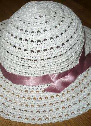 Шляпа детская розовая до 5 лет можно