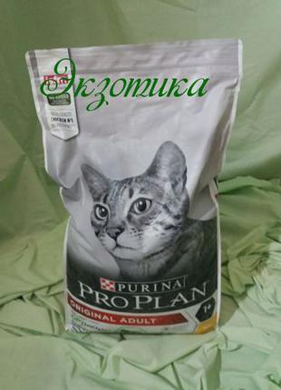 Акция!Сухой корм для взрослых кошек Purina Pro Plan Adult, курица
