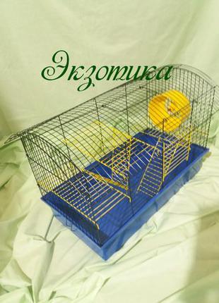 Большая клетка для грызунов, крыс БІГ ВАГОН 61х39х40.5