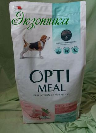 OptiMeal - корм ОптиМил с индейкой для собак средних пород 12 кг
