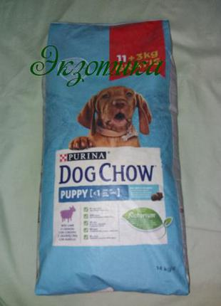 DOG CHOW PUPPY 14 кг.для щенков с Ягненком и Рисом