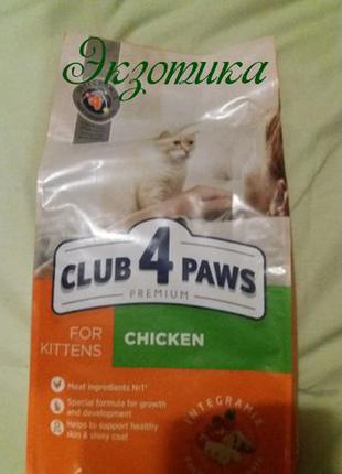 Клуб 4 лапы для котов 14 кг, мясо, курица, кролик