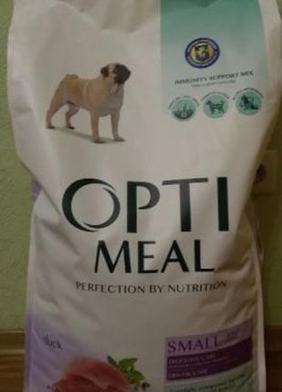 OptiMeal с уткой 12 кг для собак мелких пород