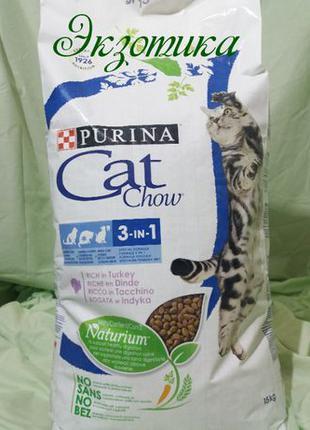 Корм для кошек Cat Chow3в 1 Кэт Чау 15 кг