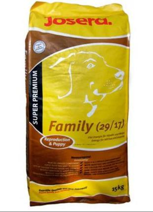 Корм для собак Josera Femily Plus 15 кг ( йозера фемели Плюс)