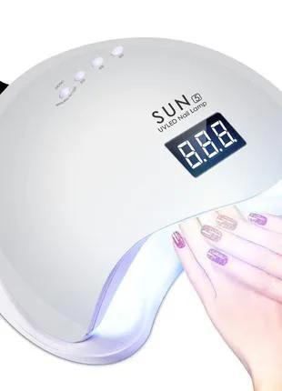 LED UV лампа для ногтей SUN 5 сан5 48Вт УФ лампа для маникюра