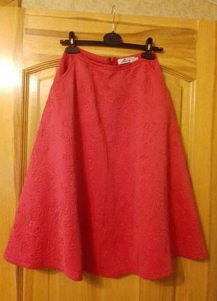 Продам спідницю/юбку/юпку сонцеклеш красная р. XS