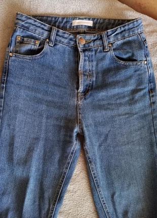 Мом джинсы котон зауженные высокая талия