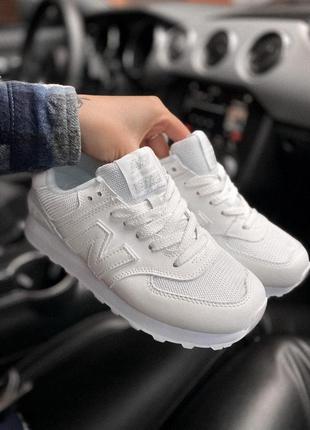 Шикарные кроссовки new balance белые