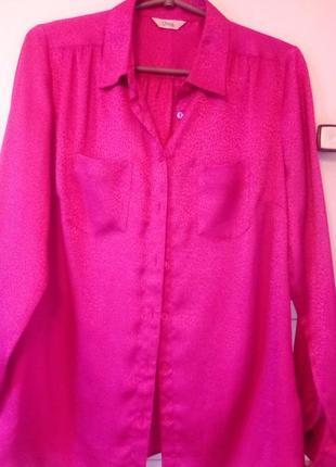 Атласная блуза рубашка женская фирмы marks & spencer