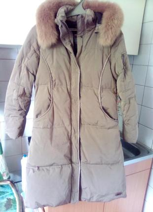 Очень тёплый фирменный женский пуховик wildroses пальто