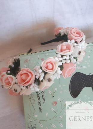 Обруч ободок венок с цветами