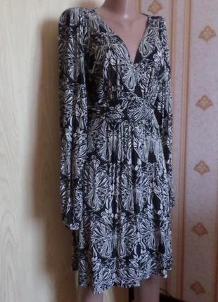 Платье вискоза, трикотажное с длинным рукавом, португалия