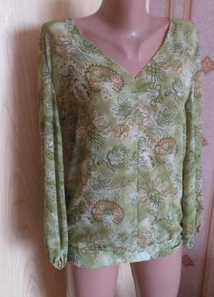 Блузка шифоновая с длинными рукавами. m - l