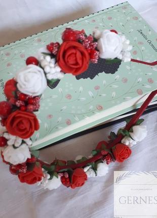 Обруч ободок веночек с цветами