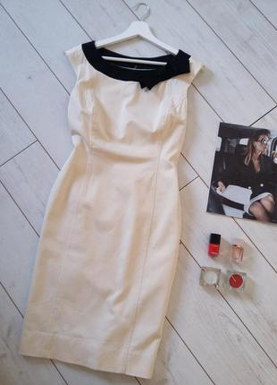 Лаконичное платье миди футляр ,кремовый цвет..# 470