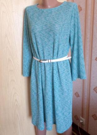 Трикотажное платье свободного кроя, размер l - xl