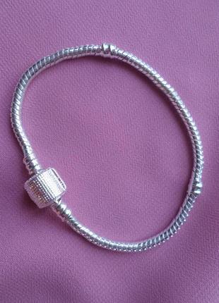 Распродажа. браслет - основа посеребренный (подарок каждому по...
