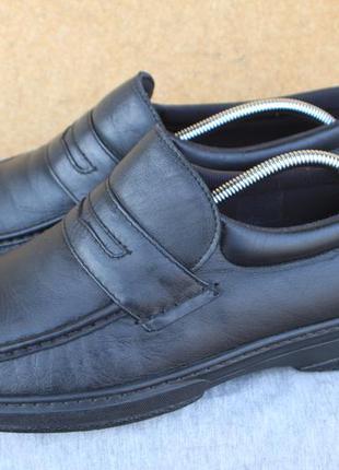 Туфли pinosos кожа сделаны в испании 46р лоферы мокасины