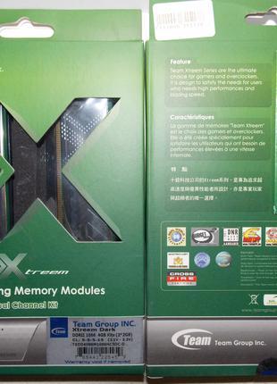Модули памяти 2*2 (4096mb) DDR2 800-1066Mhz Team Xtreem Dark
