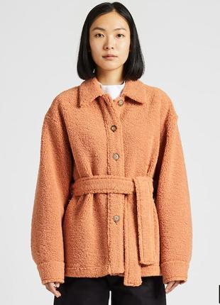 Женское короткое пальто флис uniqlo