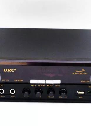 Усилитель UKC SN-302BT - Bluetooth, USB,SD,FM,MP3! Караоке