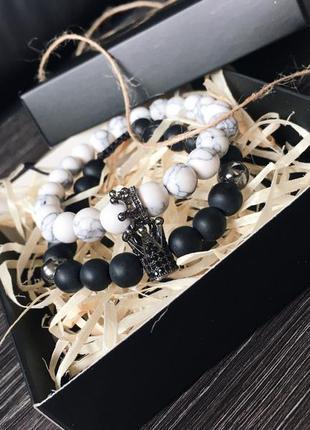 Парные браслеты из натуральных камней!