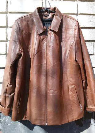 Шикарная демисезонная куртка  из натуральной кожи 2 в1