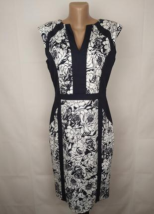 Платье новое стрейчевое красивое в принт marks&spencer uk 12/40/m