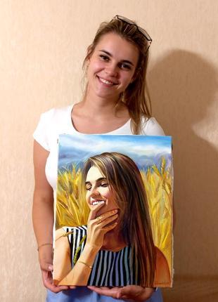 Картина, портрет по фото на заказ от профессионального художника