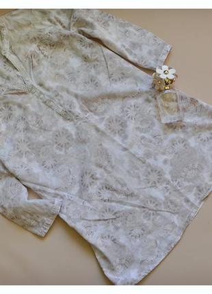 Marks&spenser  легкая блуза-туника, хлопок и лен.