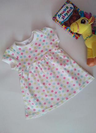 Новое летнее трикотажное платье хлопок платтячко бавовна от f&f