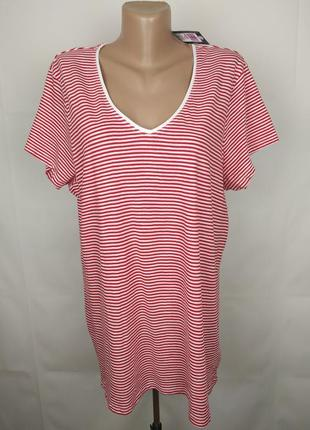 Блуза футболка новая хлопковая в полоску большого размера mark...
