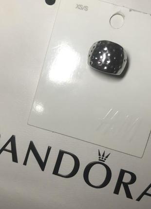 Кольцо под серебро серебряное стильное массивное h&m