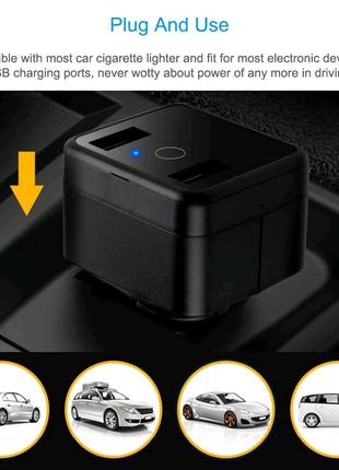 GPS трекер, зарядное устройство в прикуриватель