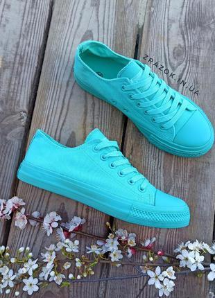 Голубые синие кеды кроссовки конверсы сетка летние на шнурках
