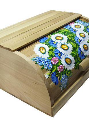 Хлібниця деревяна ромашки / хлебница