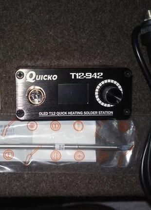 Паяльная станция QUICKO T12-942 MINI OLED . Hakko T12