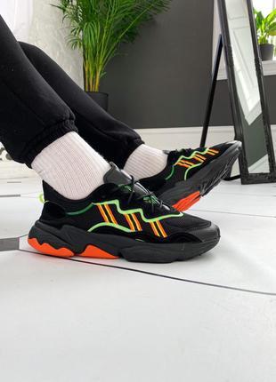 "Adidas ozweego ""black/orange/green"" мужские кроссовки адидас о..."