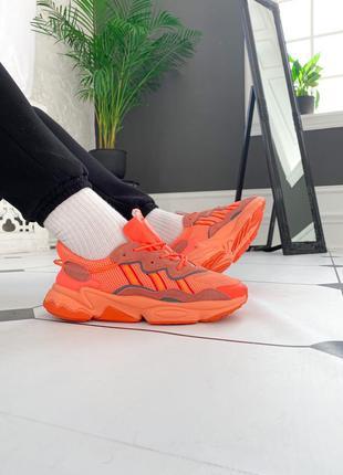 """Adidas ozweego """"orange"""" мужские кроссовки адидас озвего оранжевые"""