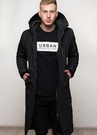 Куртка парка мужская зимняя удлиненная, чоловіча куртка зимова