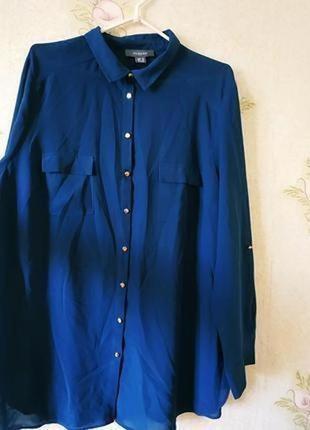 Женская рубашка изумрудного цвета primark