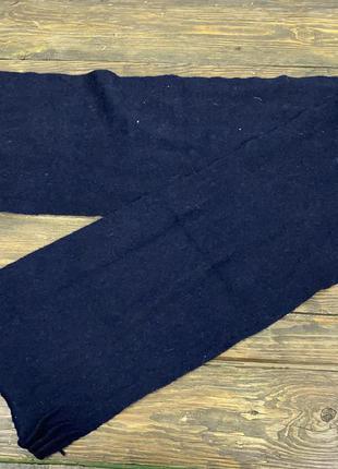 Шарф качественный king scarf, lambswool, т. синий