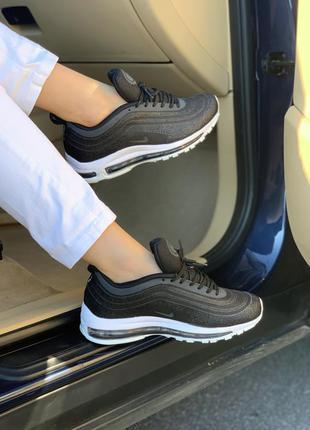 Nike 97 swarovski стильные женские кроссовки найк черные (весн...