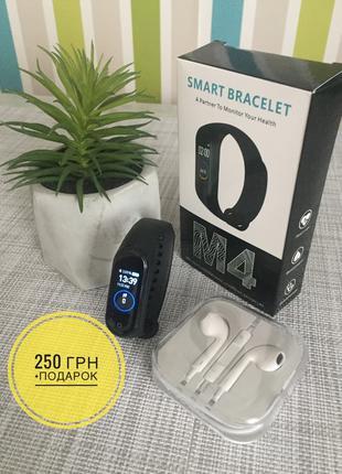 Фитнес браслет Смарт часы Mi band M4 аналог Xiaomi Mi Band 4 Blac